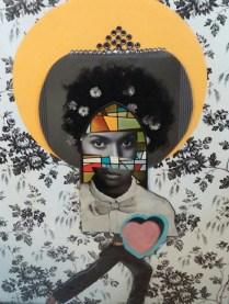 Three Women: Bobbi, mixed media (2015)