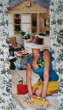 Three Women: June, mixed media (2015)