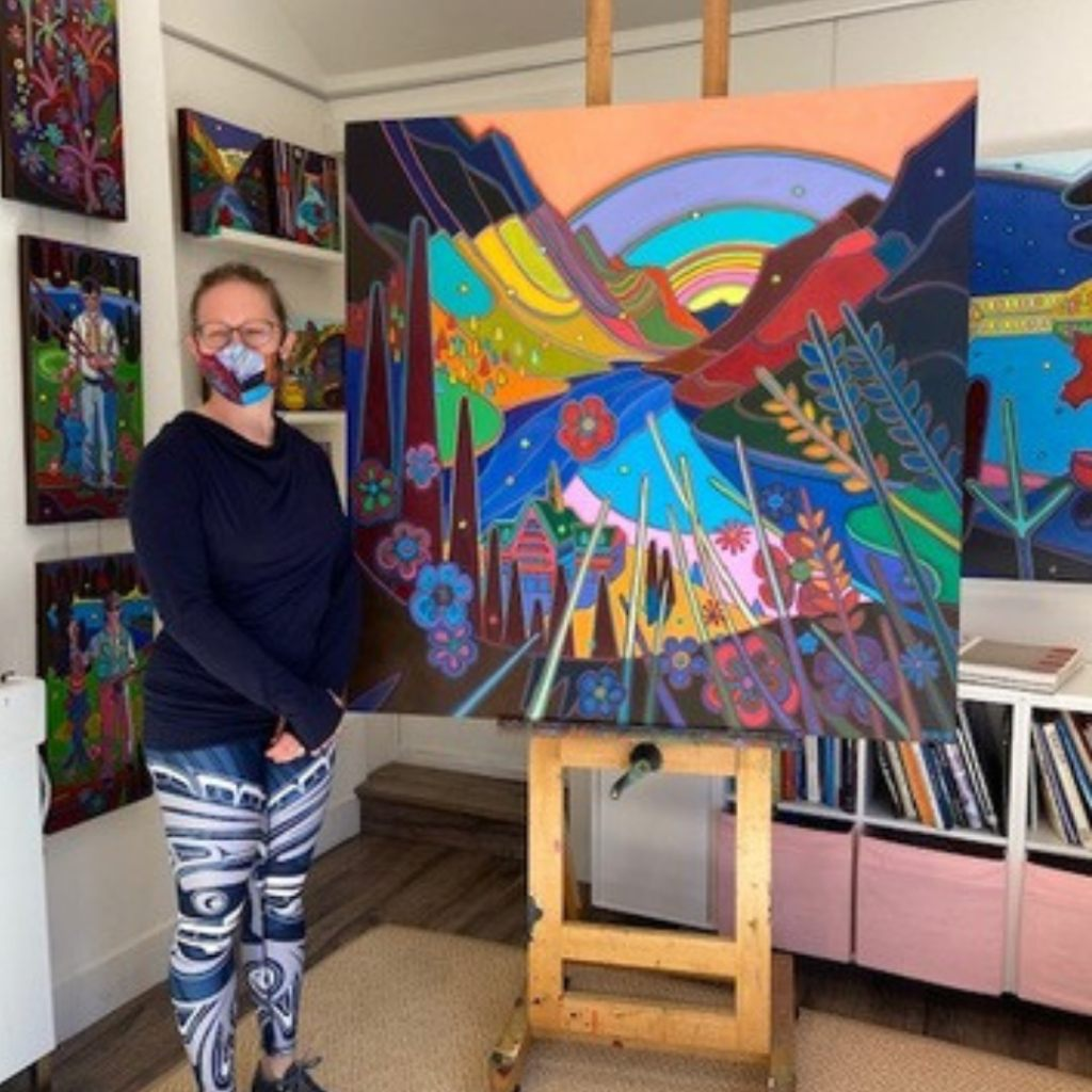 Client visit to studio for final approval - Commissions Process - Darlene Kulig