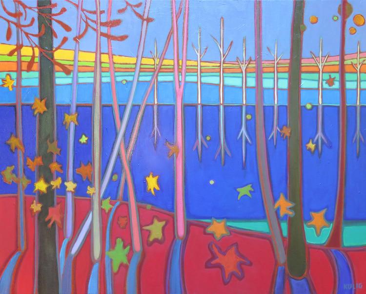 Autumn Colours - Autumn Reflections 24 x 30 - Darlene Kulig