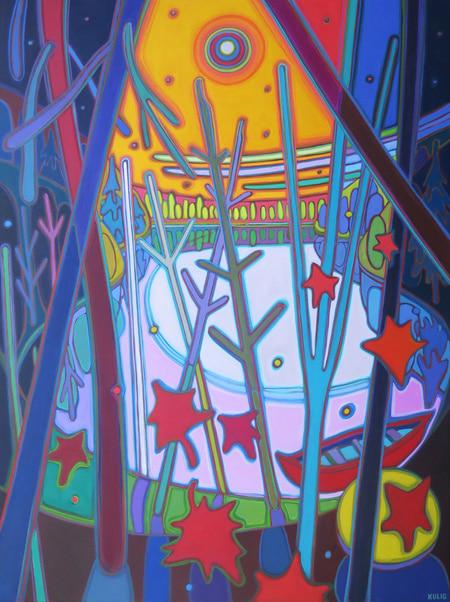 Autumn Colours - Benevolent Sunset 48 x 36 - Darlene Kulig