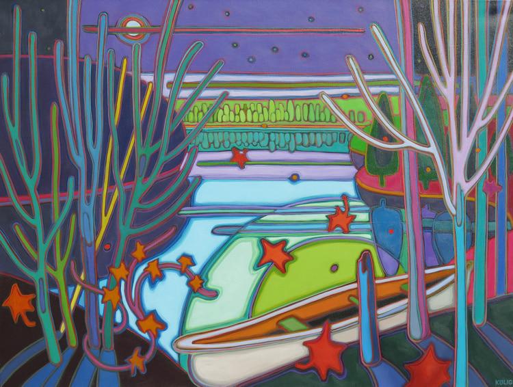 Autumn Colours - Toms Canoe 36 x 48 - Darlene Kulig