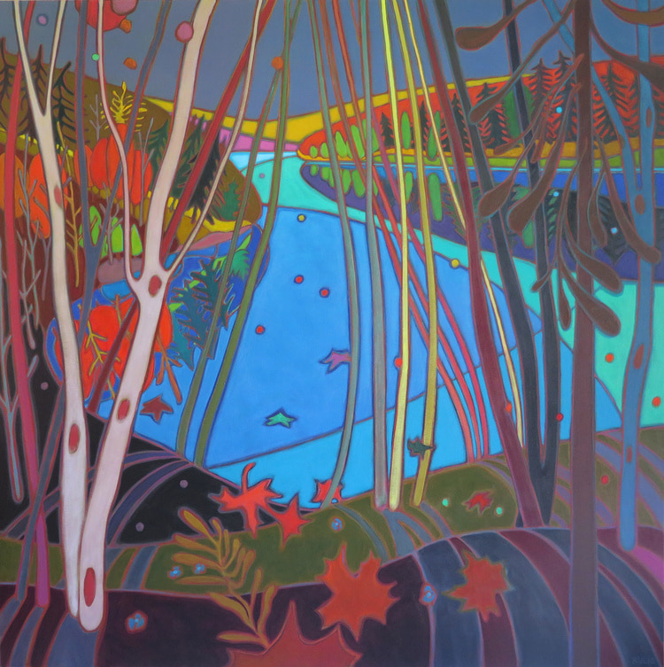 Autumn Colours - View through the Rolling Hills 48 x 48 - Darlene Kulig