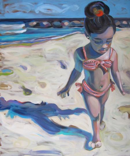 Barbados - Red Orange Bikini - Darlene Kulig