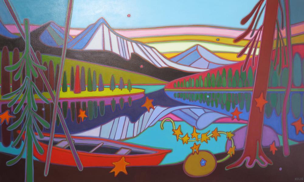 Canadian Rockies - Jasper Big Sky 36 x 60 11 - Darlene Kulig
