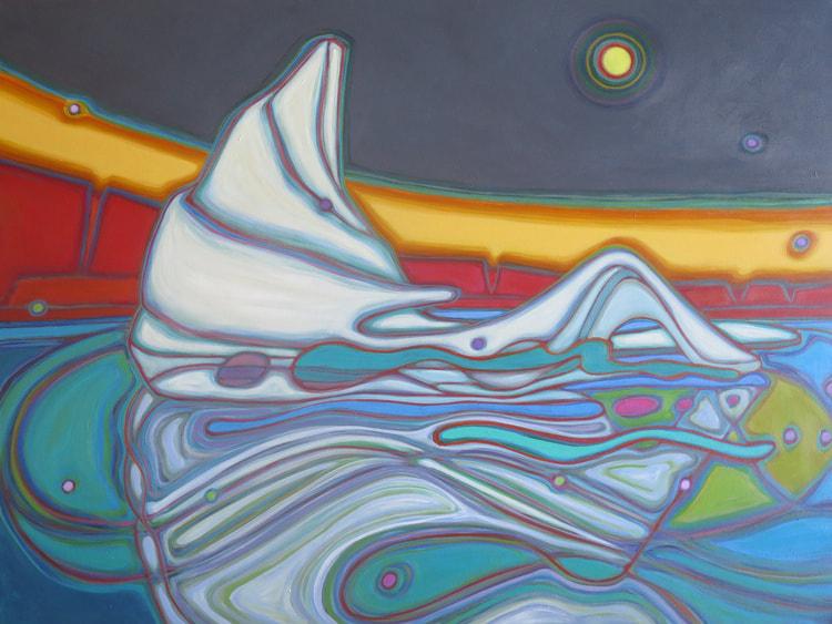 Newfoundland - Iceberg Reclining 30 x 40 - Darlene Kulig