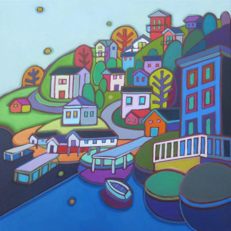 Newfoundland - Jelly Bean Hill 24 x 24 - Darlene Kulig (2)