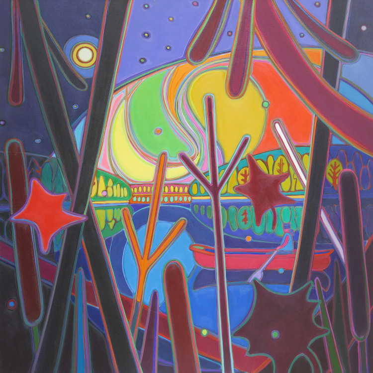 Northern Lights - Canoe Ride in Kaleidoscope Wonder - Darlene Kulig