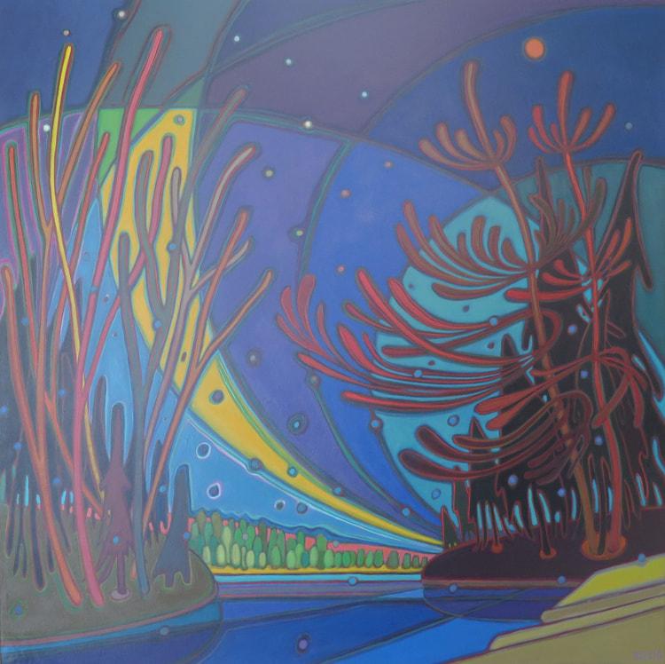 Northern Lights - Northern Lights Sweeping 36 x 36 - Darlene Kulig