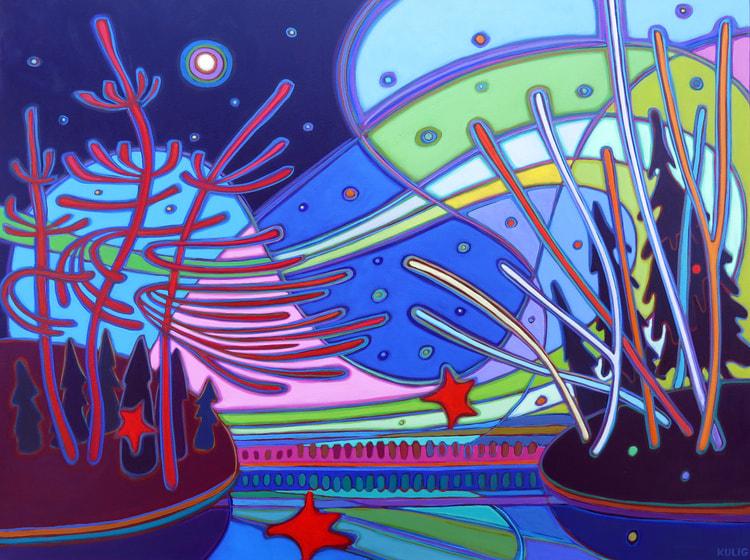 Northern Lights - Northern Lights Majestic Sweep 30 x 40 - Darlene Kulig