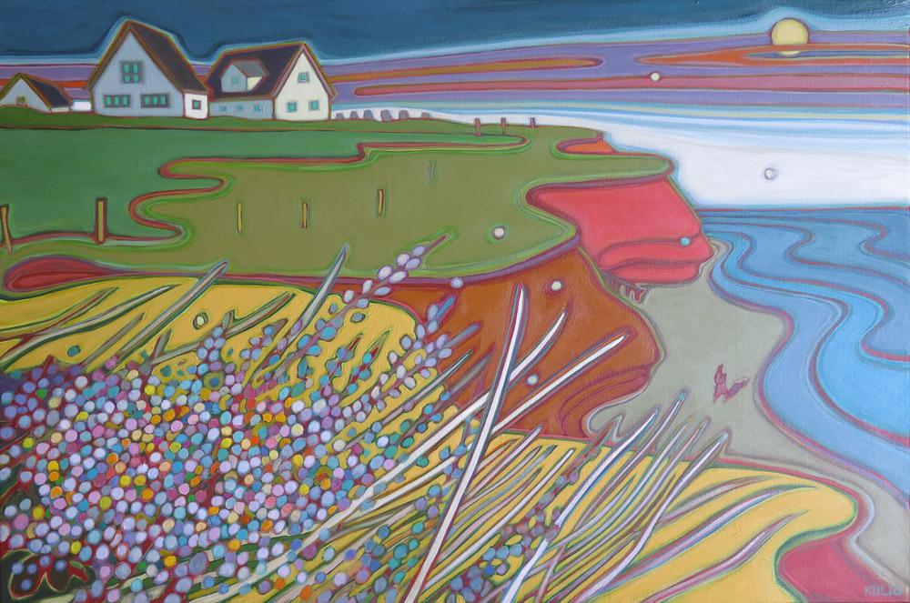 Prince Edward Island -Beach Walk along the Atlantic Ocean 36 x 24 - Darlene Kulig
