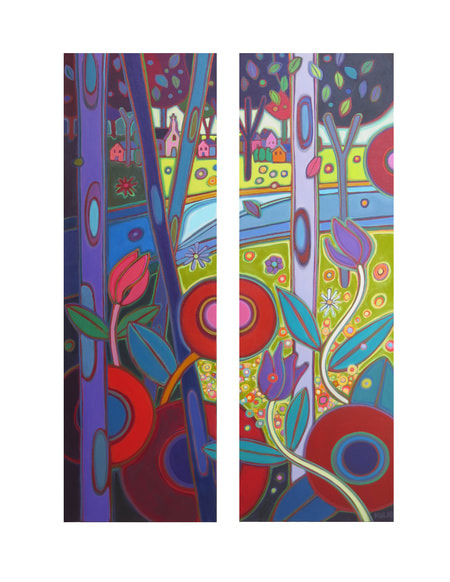 Small Canvases - Austrian Countryside Diptych - Darlene Kulig