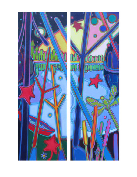 Small Canvases - Dragonfly Diptych - Darlene Kulig