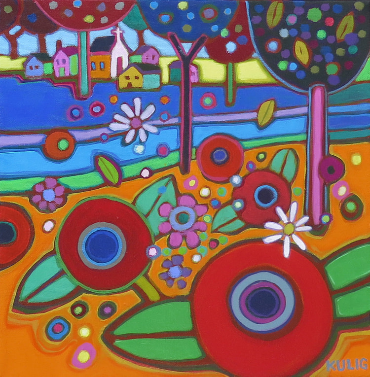 Small Canvases - European Countryside 12 x 12 Darlene Kulig