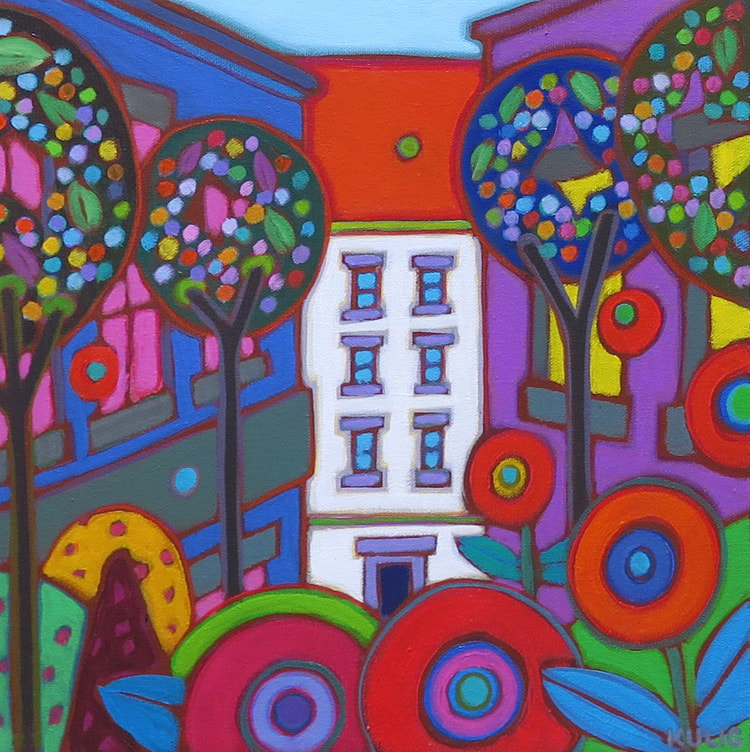Small Canvases - Vienna in Spring 12 x 12 - Darlene Kulig