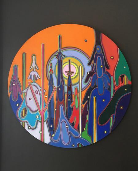 Tondos - In a Silent Way 48 inch Tondo - Darlene Kulig
