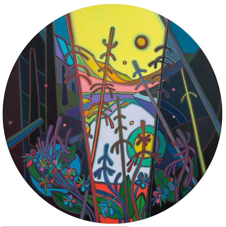 Tondos - Rebirth Yellow Sky with Wildflowers