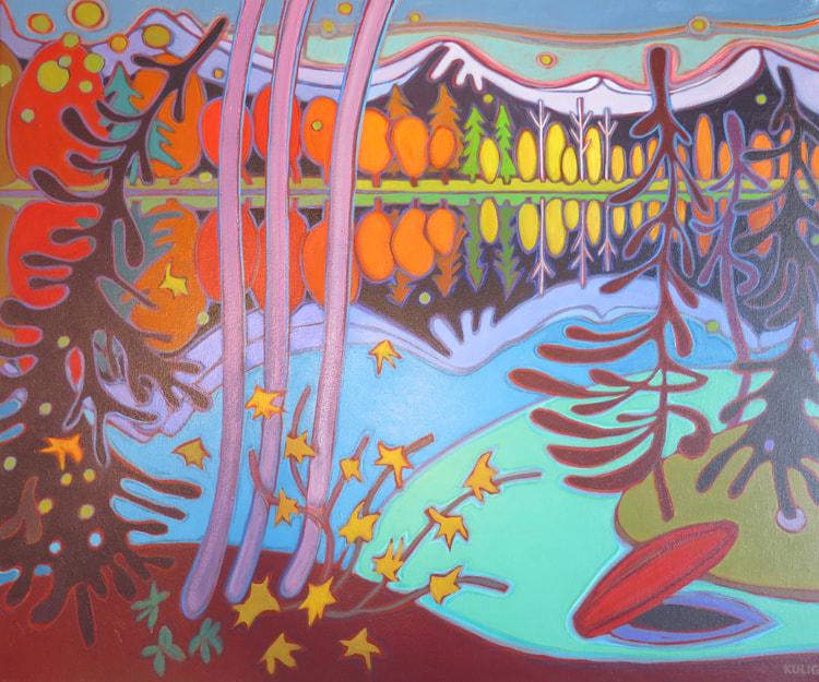 Whistler - End of Canoe Ride 30 x 36 - Darlene Kulig