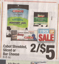 Cabot cheese discount coupons
