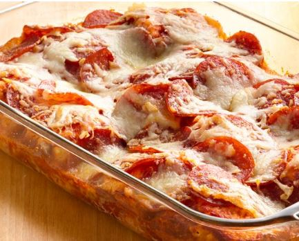 4 ingredient pizza bake recipe darlene michaud