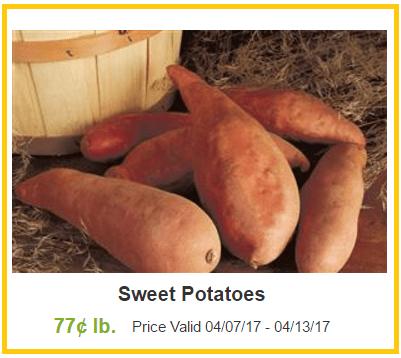sweet potatoes coupon deal darlene michaud