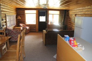 Cabin at Western Guest Ranch near Jackson Hole and Yellowstone  Running horses and Grand Tetons