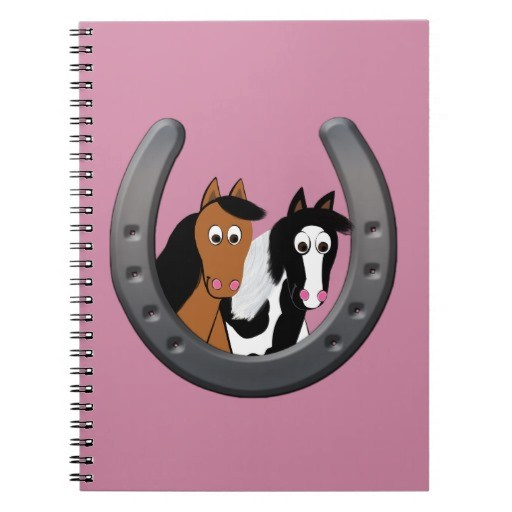 Cute Cartoon Horses Notebook