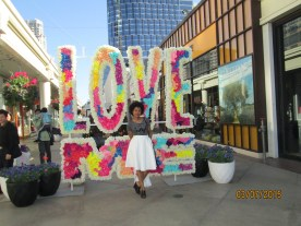 One of two art installations I came across. The colors and the message drew me in.