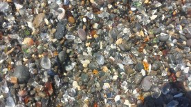 The sea glass of Glass Beach in Fort Bragg.