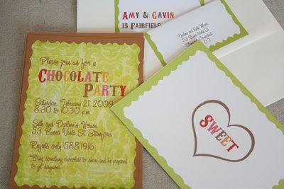 Chocolate Invite