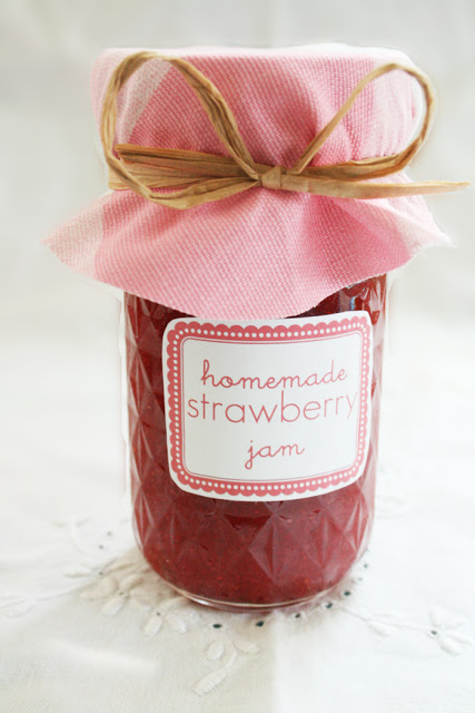 Strawberry Jam + Free Labels
