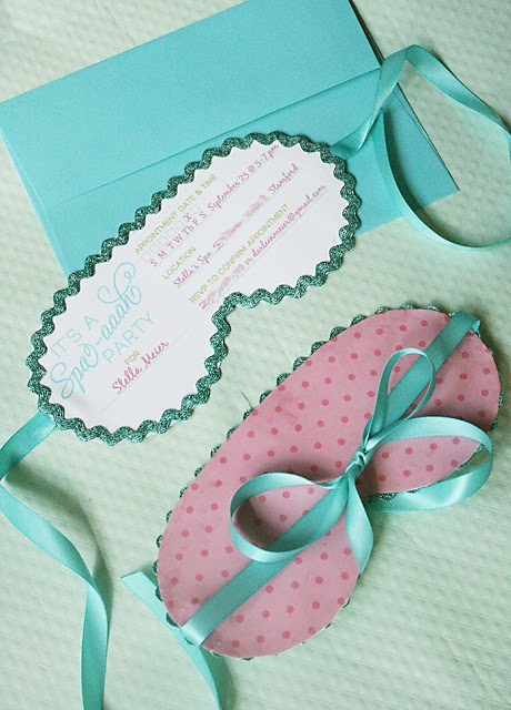 spa birthday party invitation, free printable spa party invitation