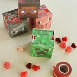 Minecraft Valentine 3-D Cube Box