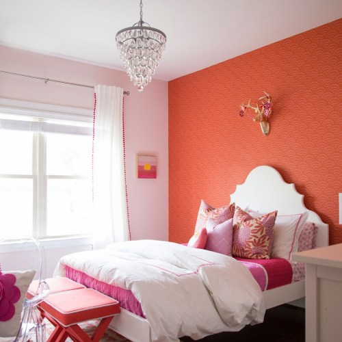 Tween Girl Bedroom : Pink + Coral