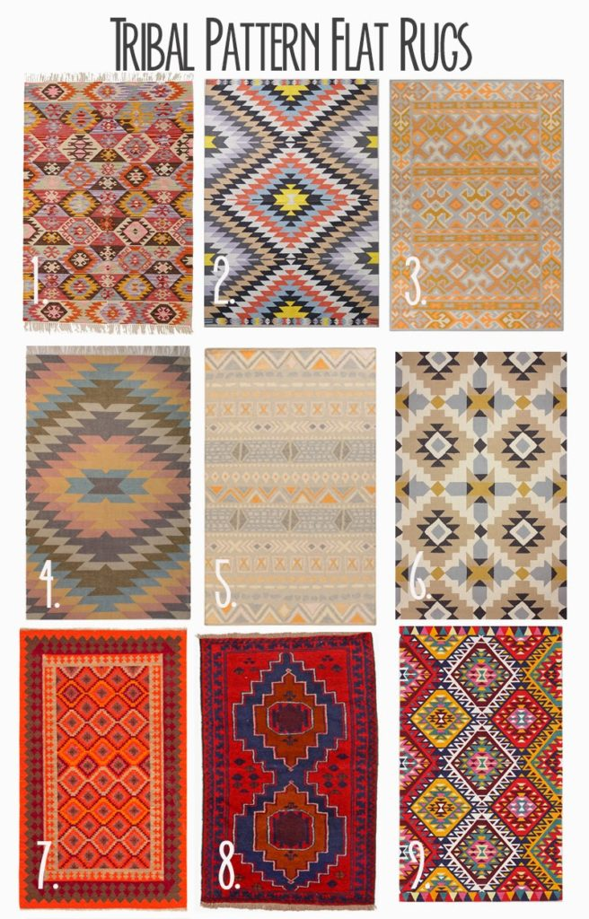 Lovely Tribal Pattern Flat Rugs - Darling Darleen | A Lifestyle Design Blog CI27