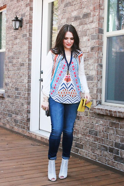 peasant tops and blouses in aztec print for spring style watch
