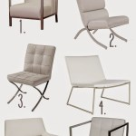 White Leather Modern Chairs