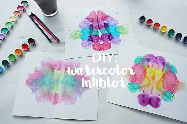 watercolor, inkblot, artwork, diy, kids artwork, crafting