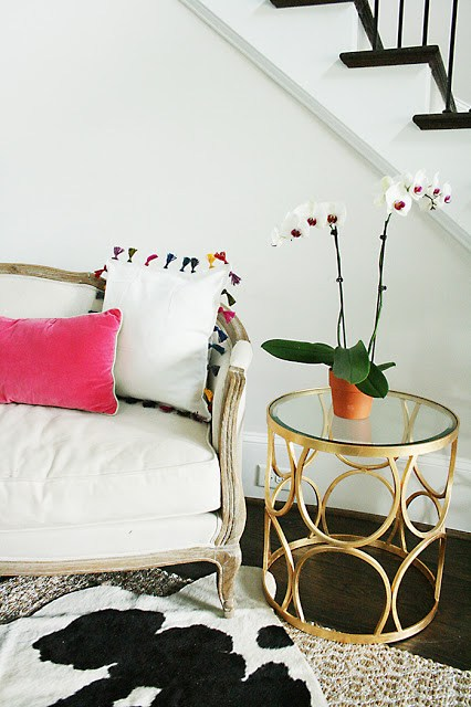 diy tassel pillow, anthropologie inspired, tassel pillow, ikea hack, bohemian