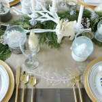 Christmas Table Decorations: Just Add Garland