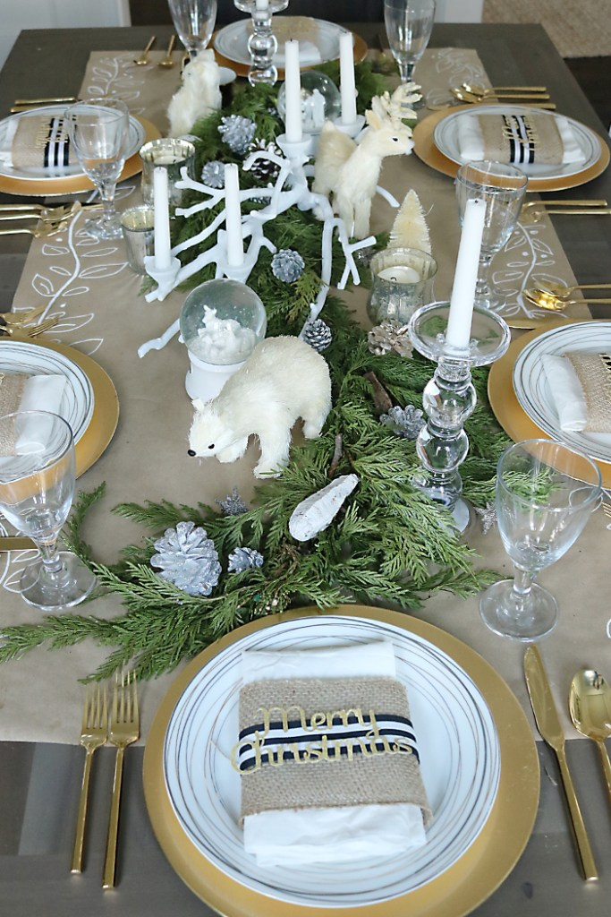 Christmas Table Decorations Just Add Garland Darling Darleen A
