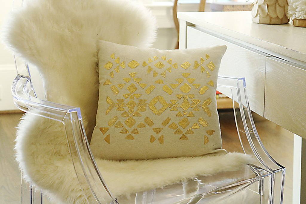 DIY Gold Foil Stencil Tutorial