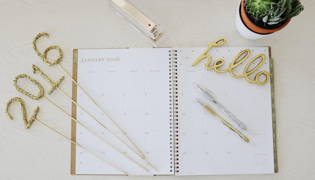 2016 Desk Calendars + New Goals