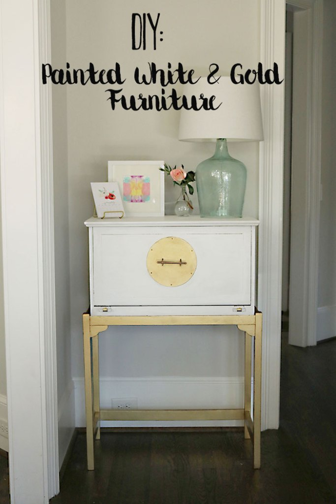 how-to-paint-furniture-white-and-gold-with-words