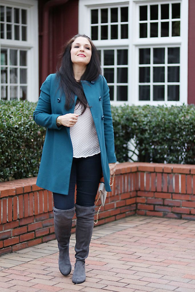 over-the-knee-boots-with-coat under $150 steve madden mom style