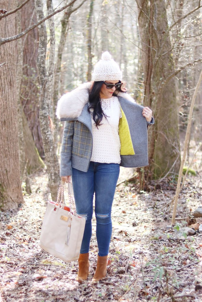 plaid-fur-winter-coat