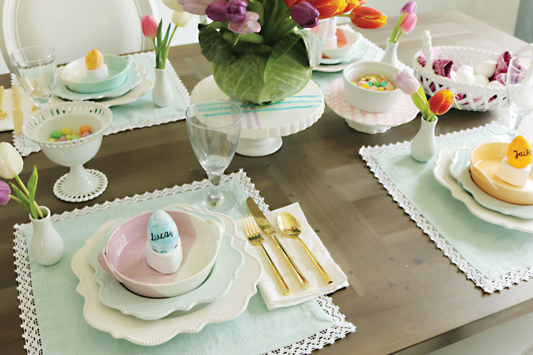 Easter Table Decorations Part - 18: Easter-table-with-pastel-colors, Easter-table-decorations,