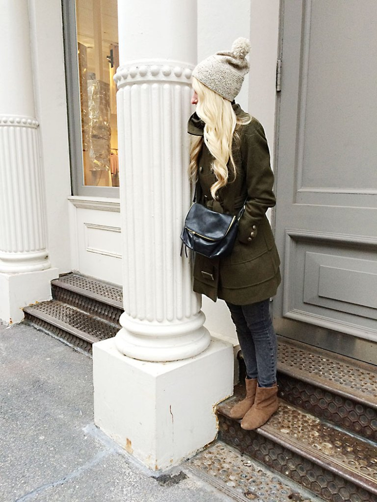 army-green-winter-coat-ashley, this way that way, how to style it, style it like this style it like that, winter coat, olive , new york fashions
