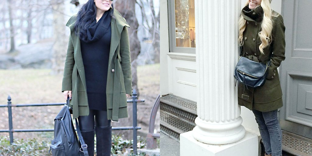 This Way That Way: Olive Green Winter Coat