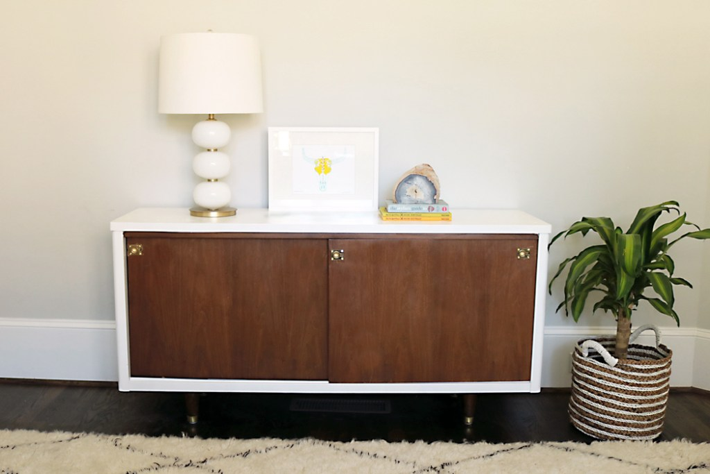mid century modern credenza ikea los angeles before after lacquer makeover for sale in houston